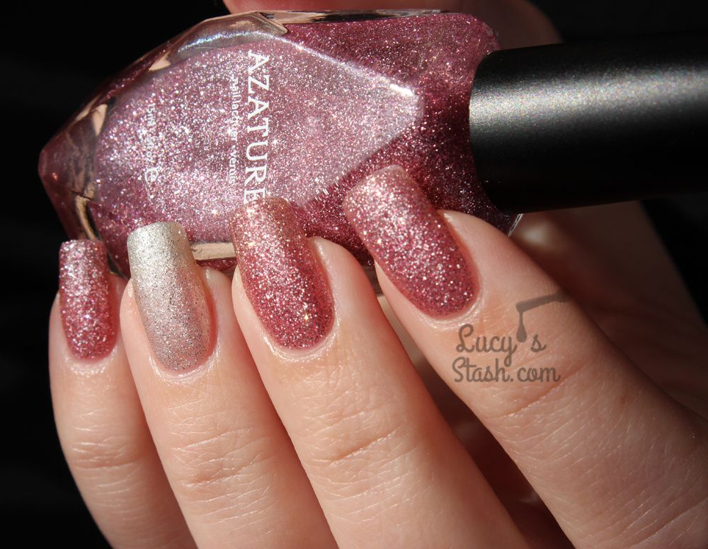 Azature Pink and White Diamond Polishes - Review & Swatches