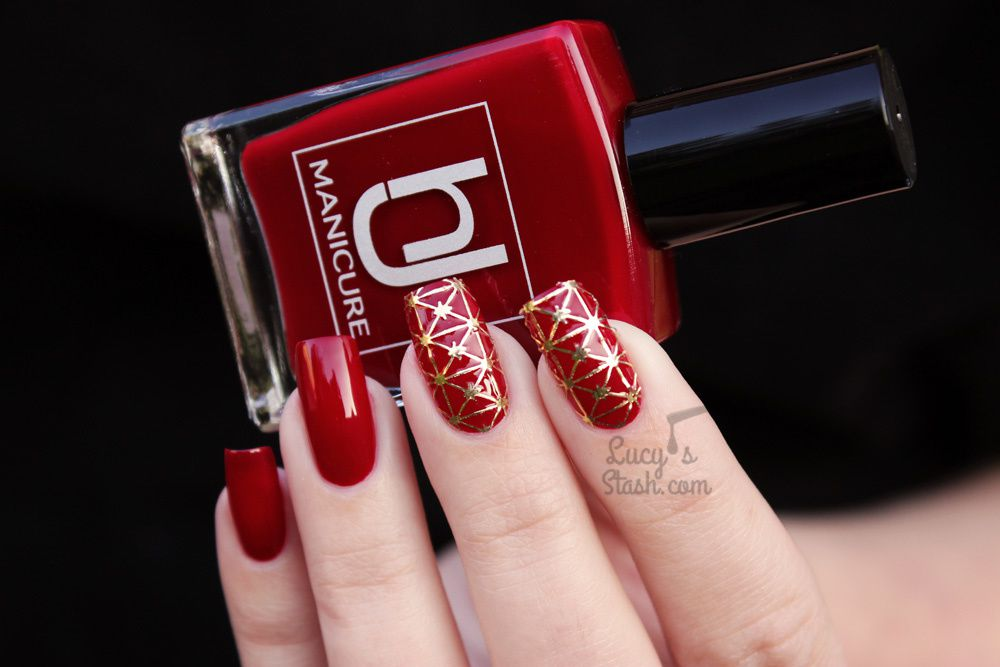 Fiery Nails With HJ Manicure Red Wine & All That Jazz Stickers