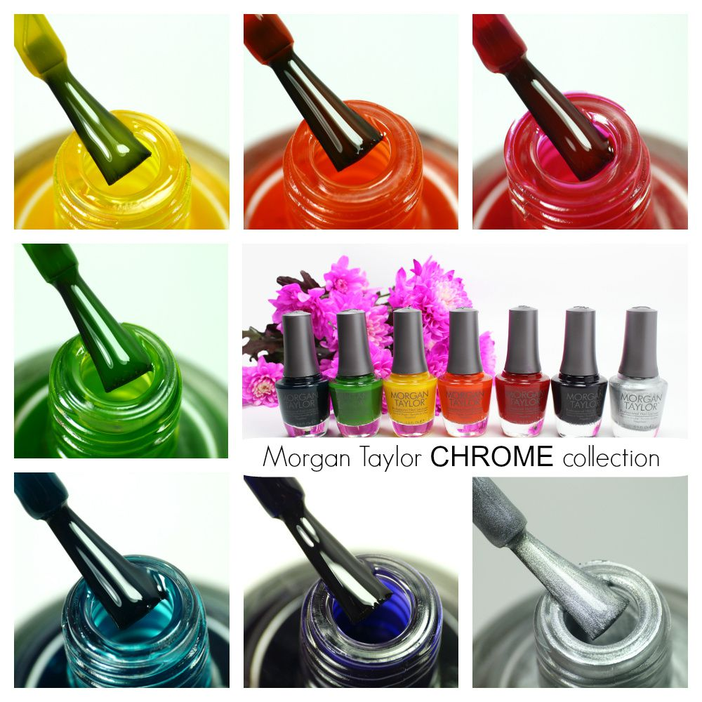 Morgan Taylor CHROME Collection | Review & Nail Art Manicures