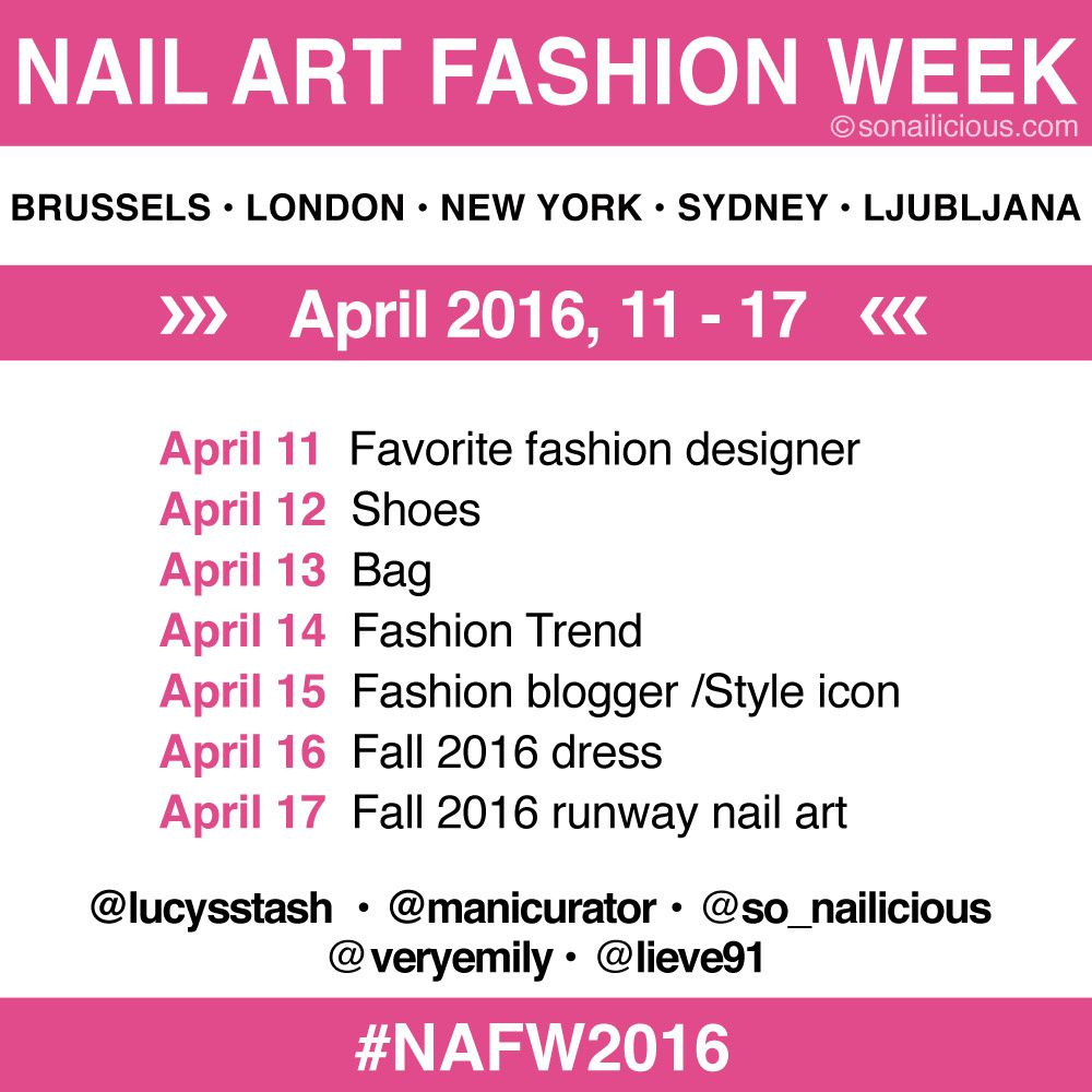 You're Invited to Nail Art Fashion Week 2016!