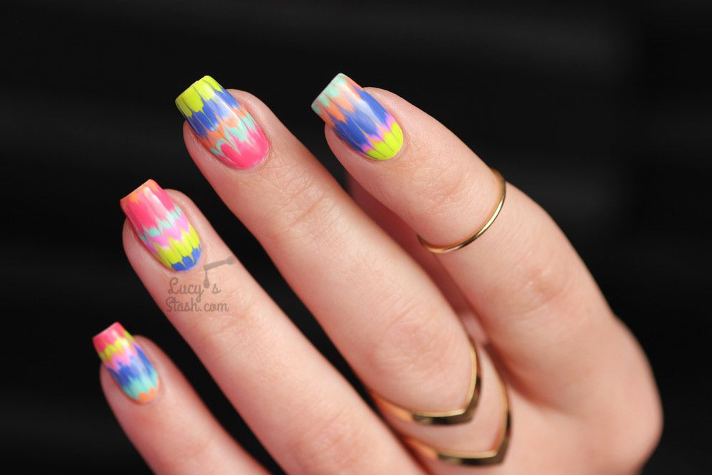 Marble Nail Art Tutorial with Bundle Monster Cali Dreamin' Gel Polish Collection