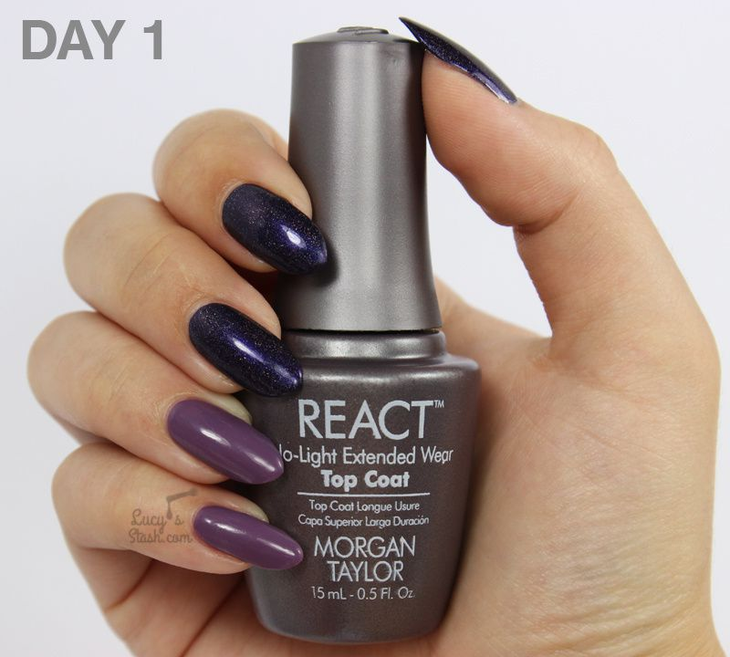 Review: Morgan Taylor REACT No Light Extended Wear Base & Top Coat