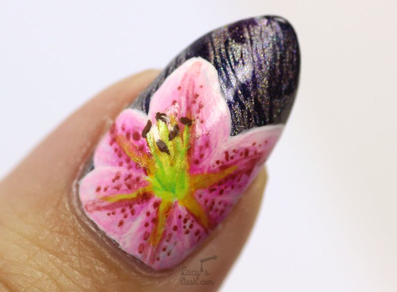 ABC Challenge: L is for Lilies   Nail Art Challenge