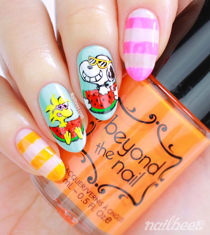 Guest Post: Snoopy Nail Art from Minnie aka Nailbees