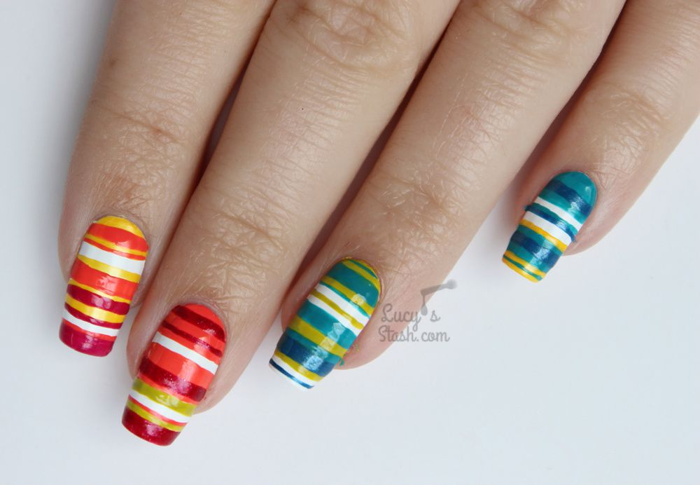 Paint All The Nails Presents Colour Block Nail Art + TUTORIAL
