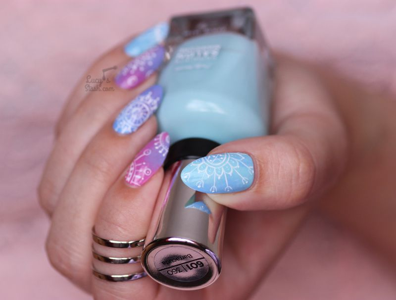 Dreamy Mandala Nails with TUTORIAL feat. Sally Hansen