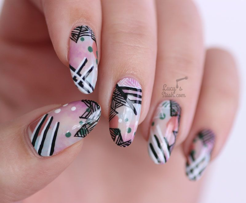 I'M BACK!...along with Abstract Handpainted Nail Art