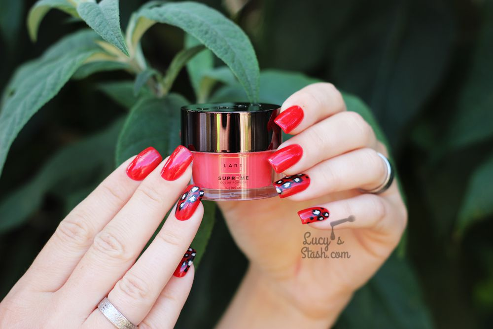 REVIEW: LART Supreme Mineral Powder Dipping System & Leopard Print Nail Art