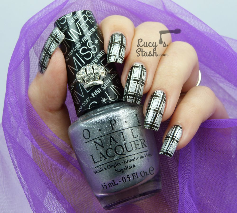 Simple Checkered Stamping feat. MoYou London and OPI