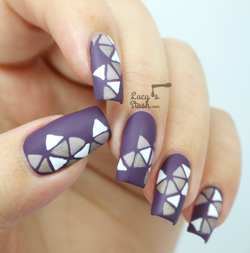 Triangle Mosaic Nail Art Design with SpaRitual
