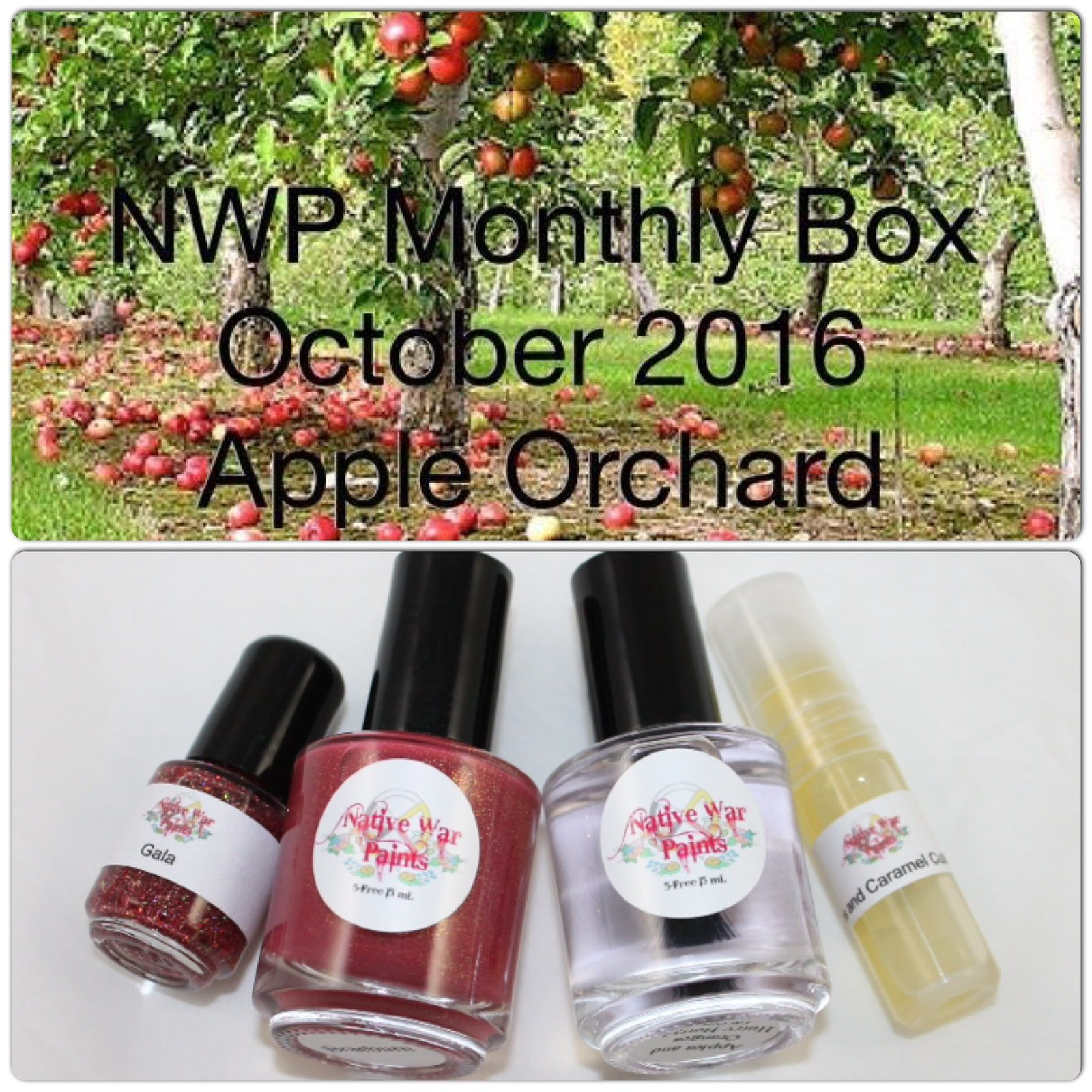 Native War Paints Monthly Box - October 2016 - Apple Orchard
