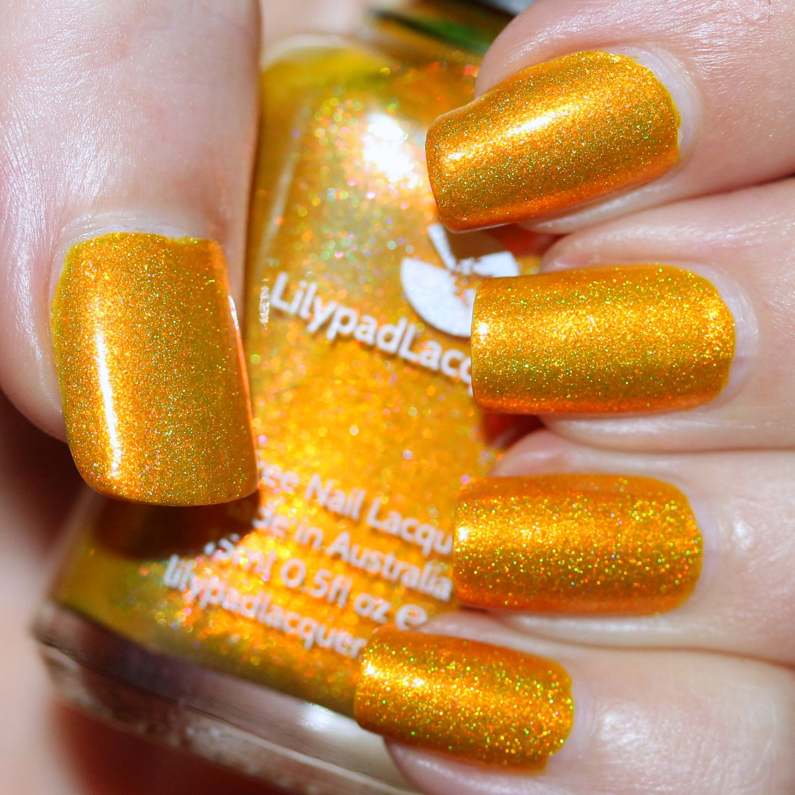 Essie Protein Base Coat / Lilypad Lacquer Harvest Moon / Sally Hansen Miracle Gel Top Coat