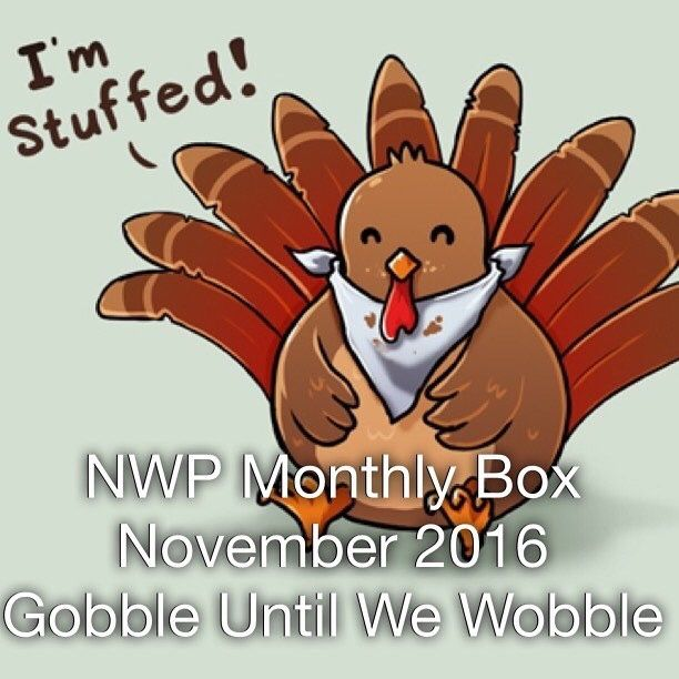 Native War Paints Monthly Box - November 2016 - Gobble Until We Wobble