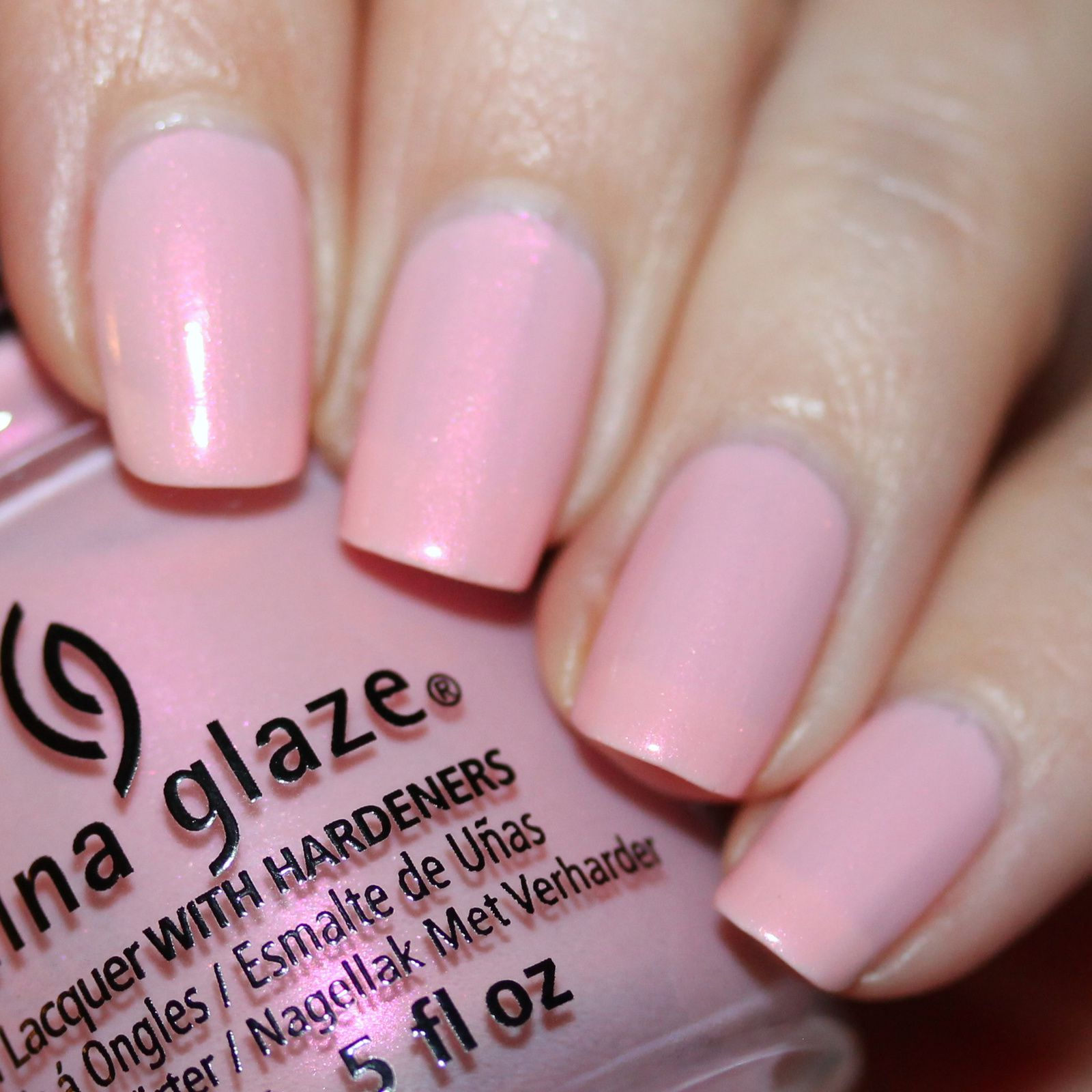 Essie Protein Base Coat / China Glaze Eat, Pink, Be Merry / Poshe Top Coat