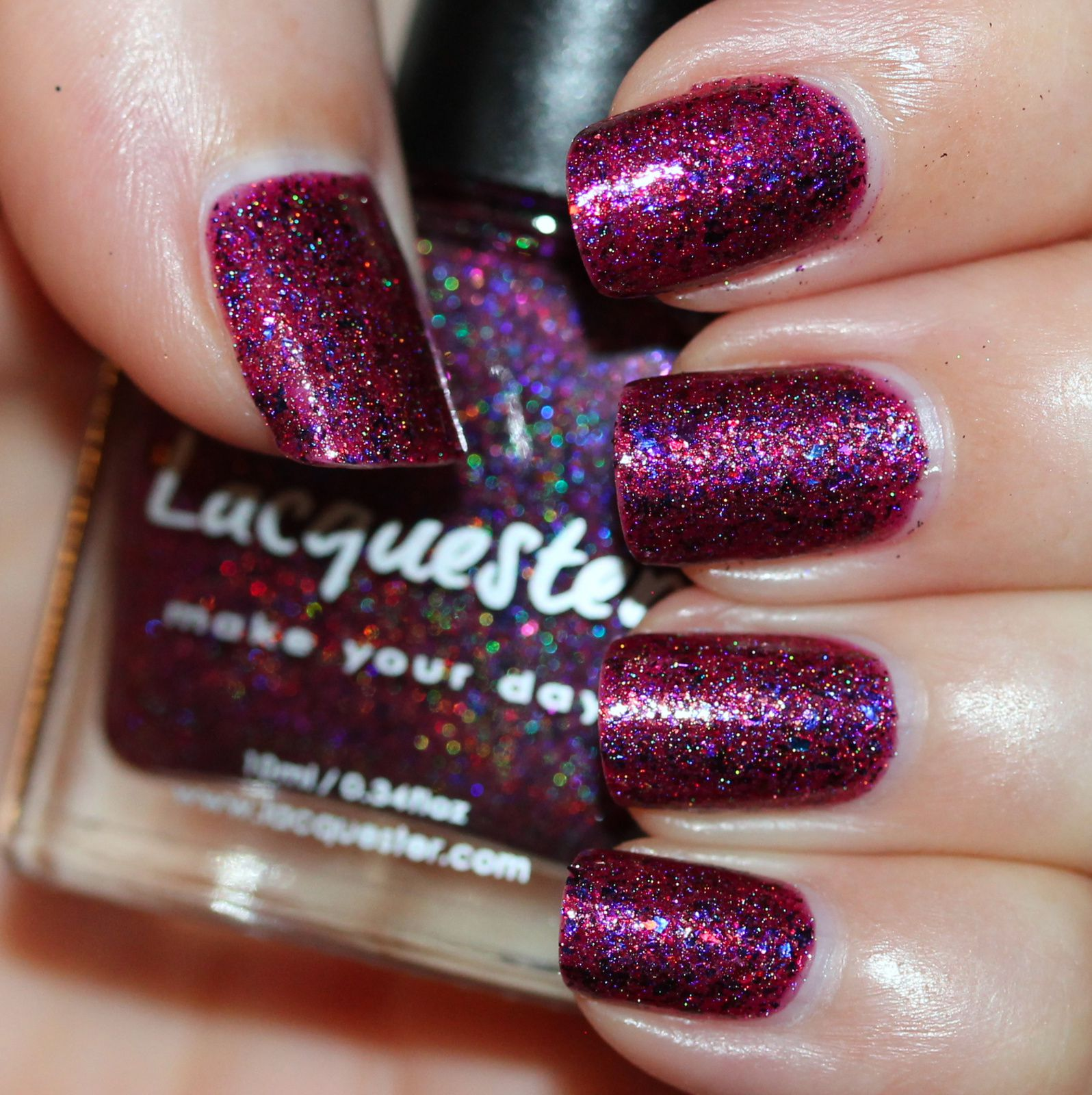 Lacquester Currant-ly Available (3 coats, no top coat)
