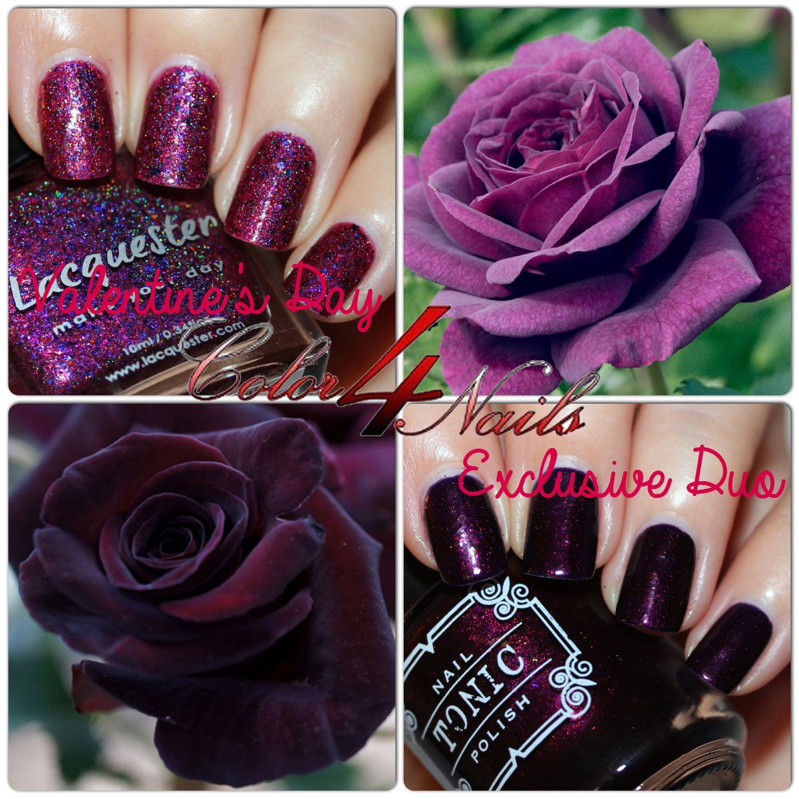 Tonic Polish & Lacquester Color4Nails Valentine's Day Exclusive Duo