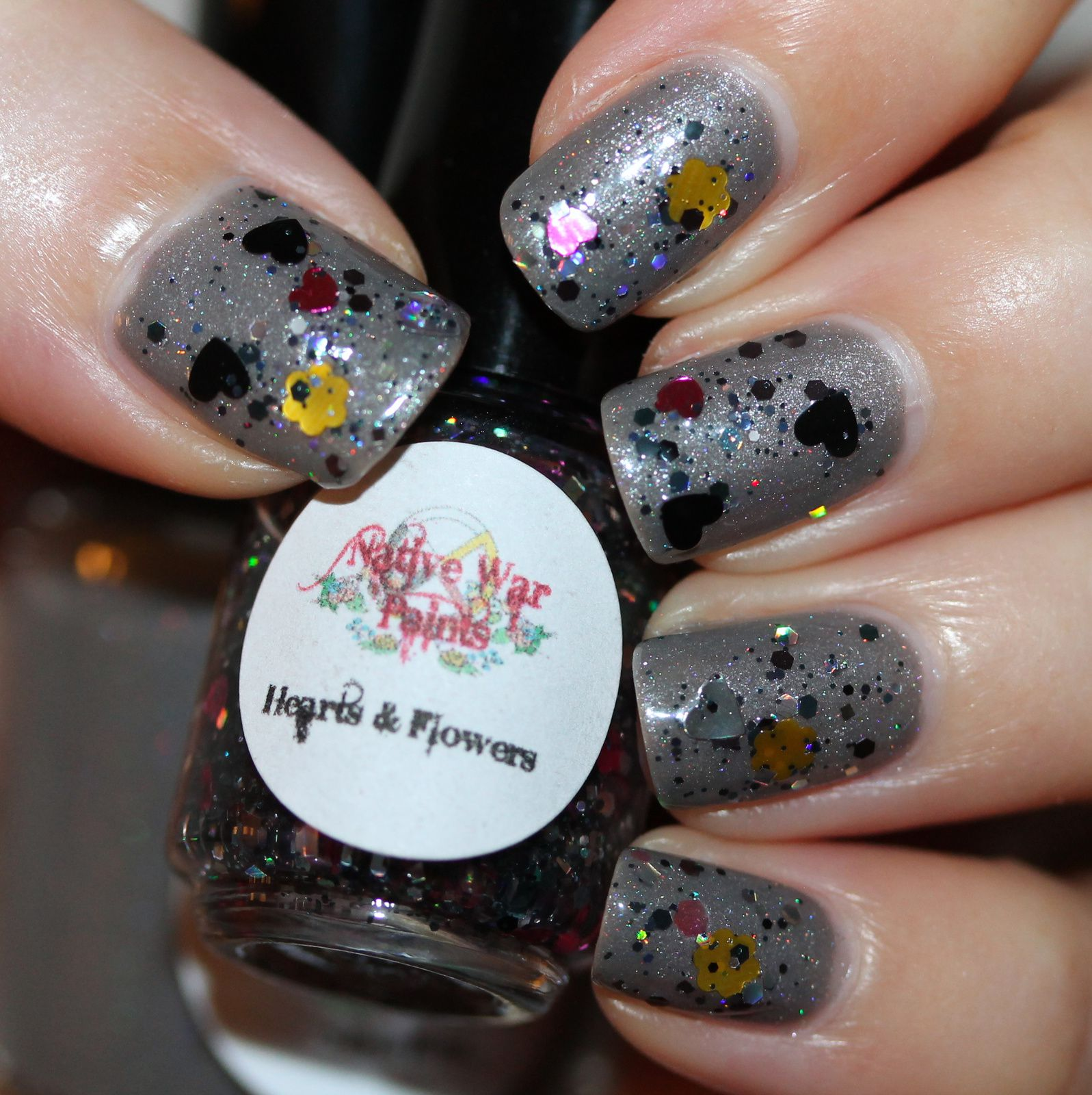 Native War Paints Hearts & Flowers (Over Later, Baby) (2 coats, no top coat)