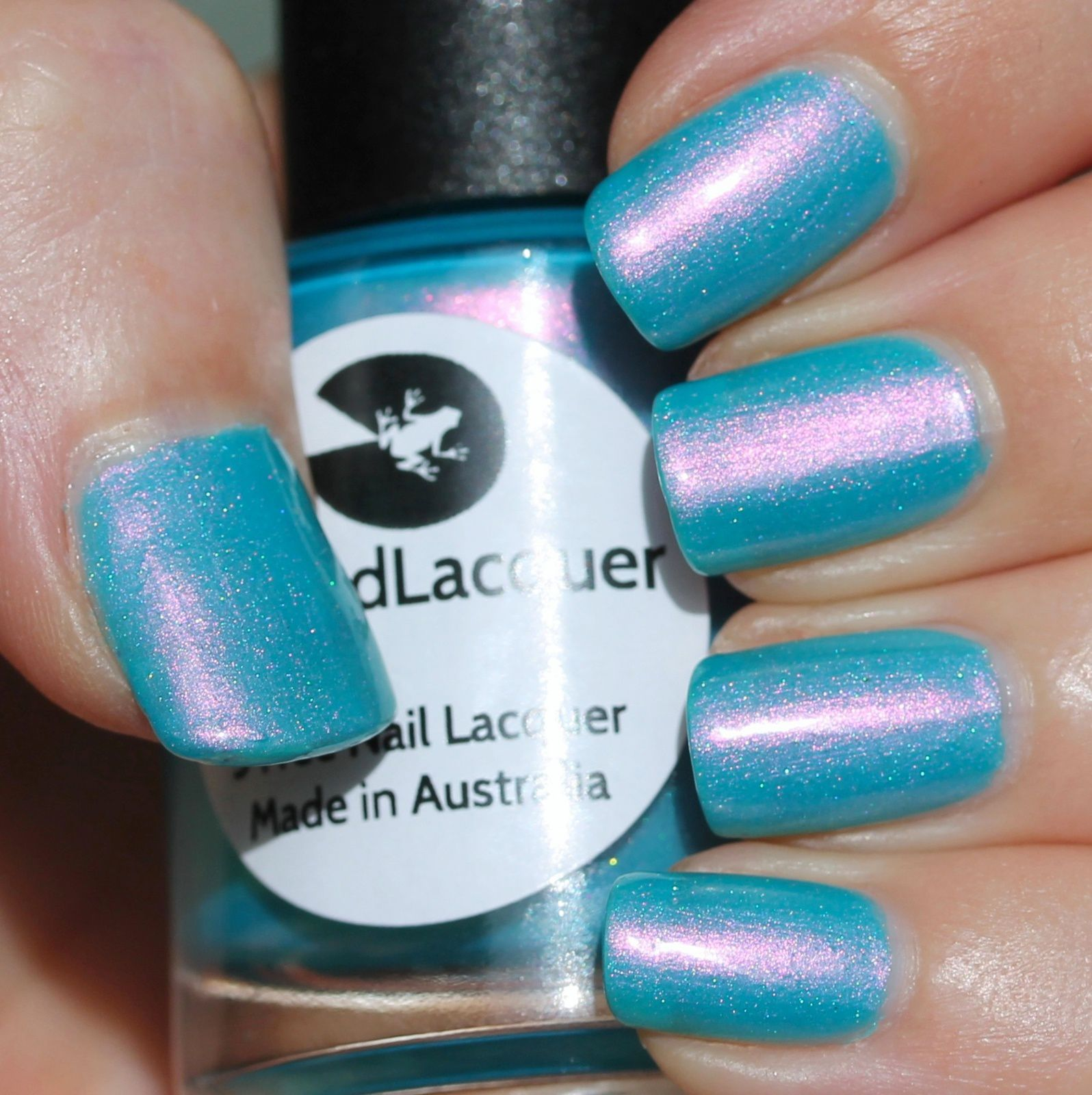Essie Protein Base Coat / Lilypad Lacquer Unicorn Lagoon / Lilypad Lacquer Crystal Clear Top Coat