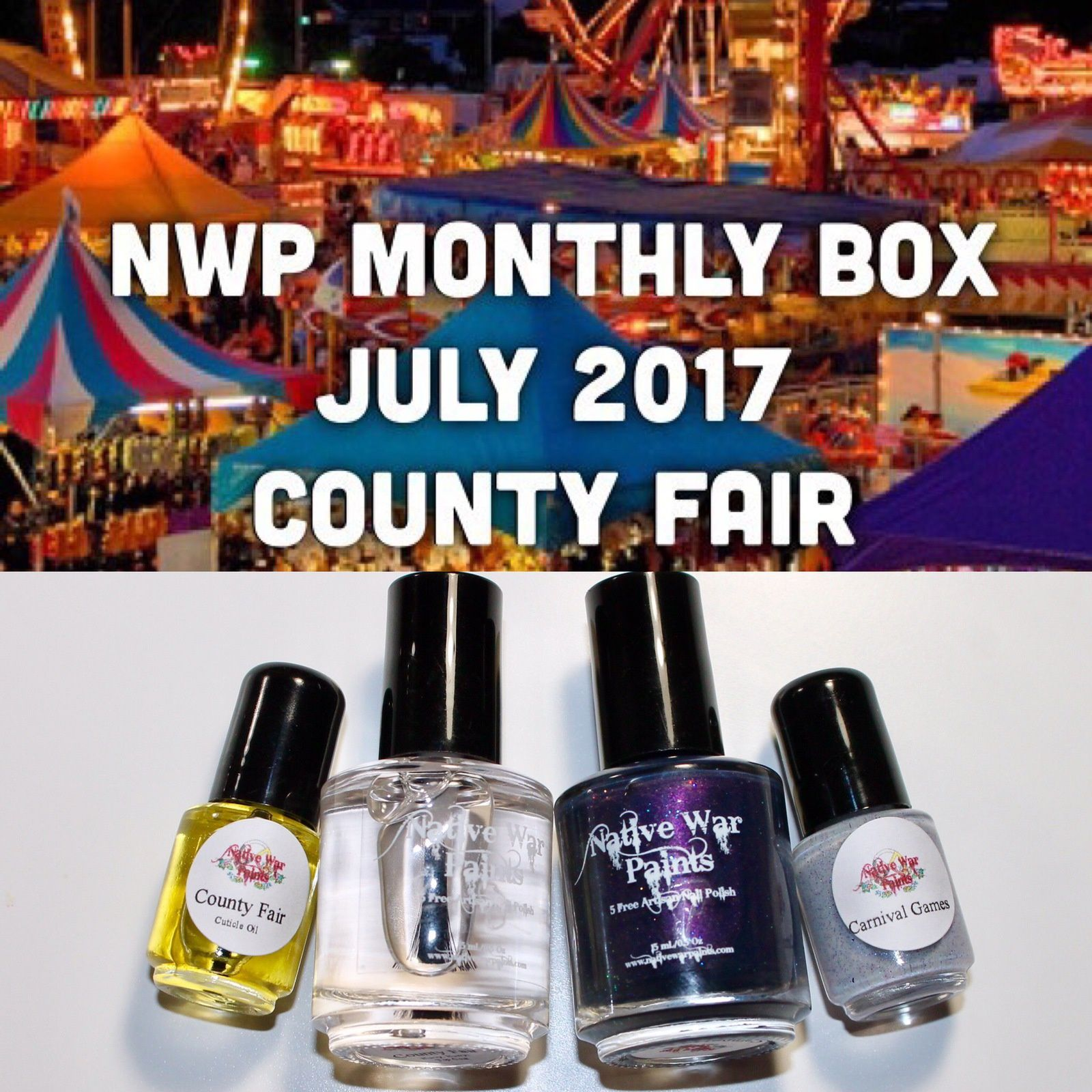 Native War Paints Monthly Box - July 2017 - County Fair