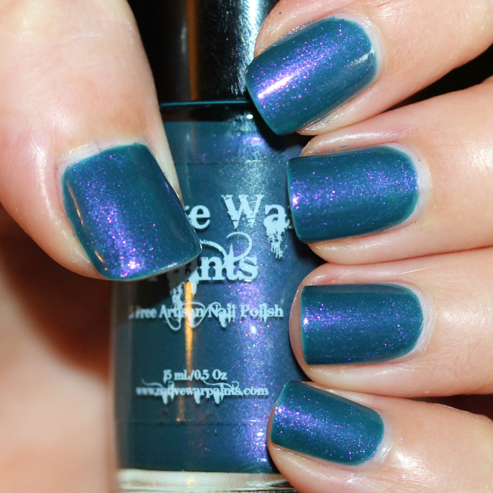 Native War Paints Teal Me You Love Me (2 coats, no top coat)