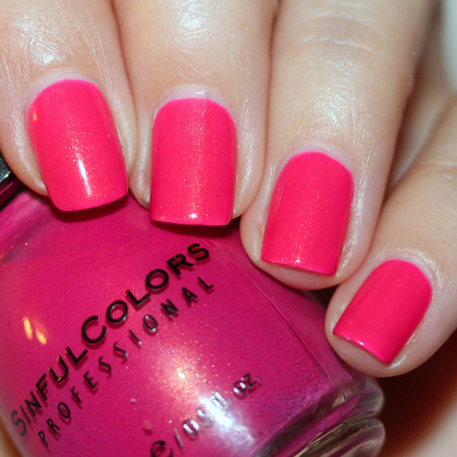 Sally Hansen Complete Care 4-in-1 Extra Moisturizing Nail Treatment / Sinful Colors Cream Pink / Poshe Top Coat