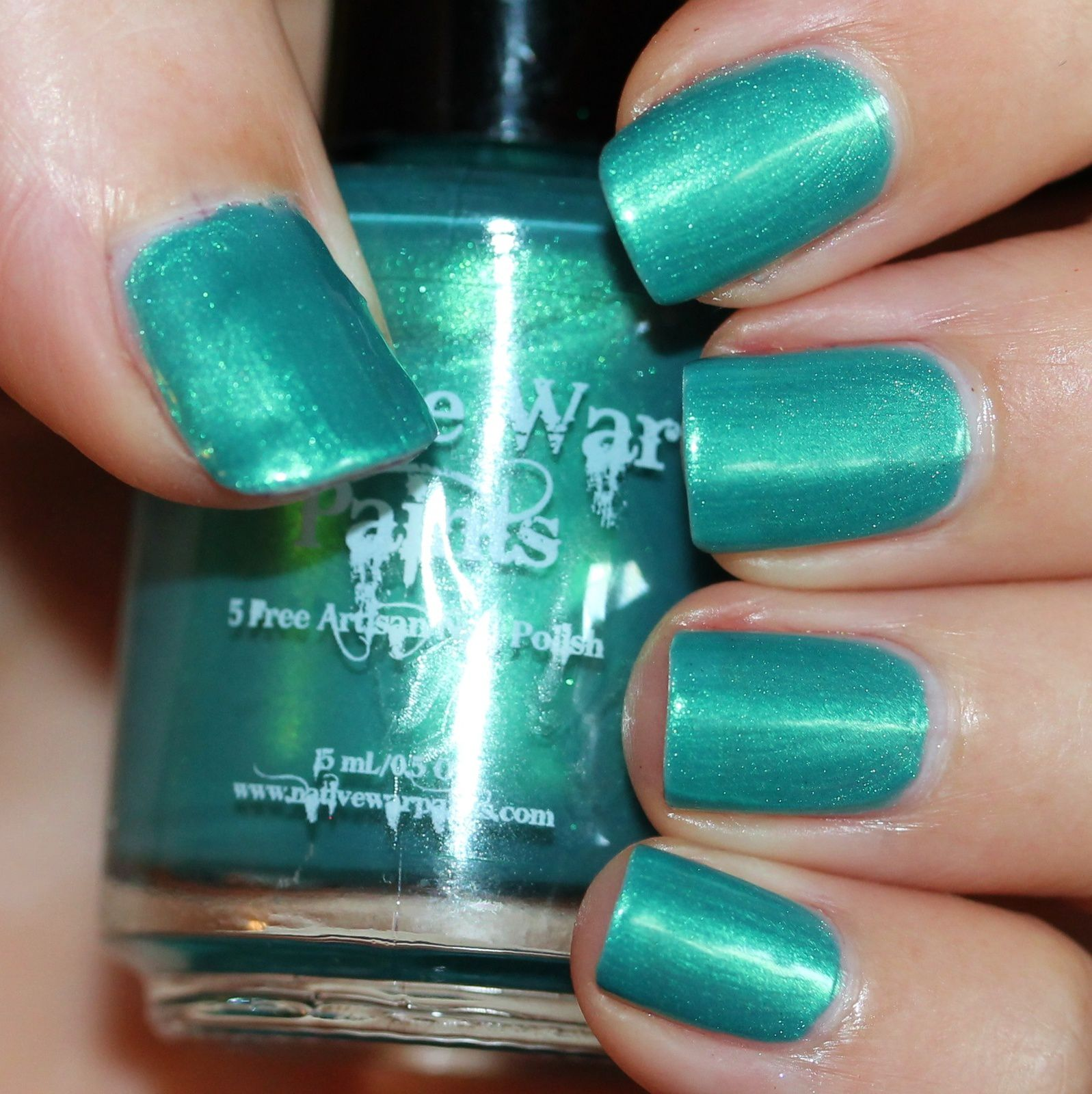 Native War Paints Teal The End (2 coats, no top coat)