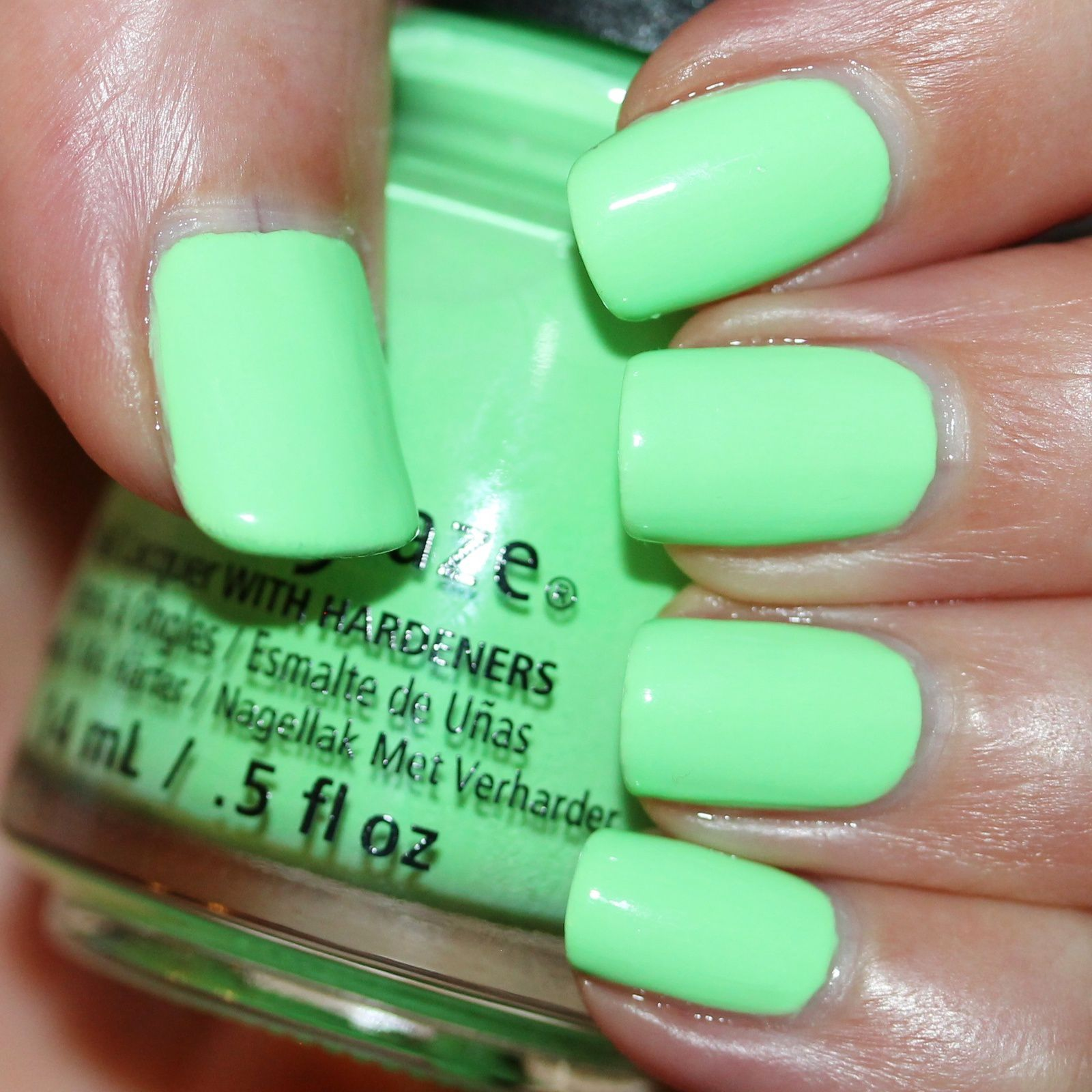 Mavala Base Coat Nail Shield 2-Phase Reinforcer and Protector / China Glaze Lime after Lime / HK Girl Top Coat