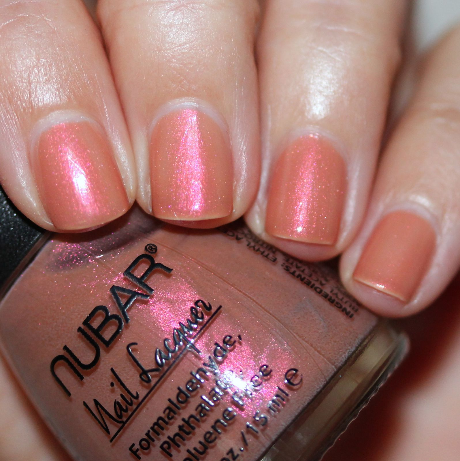 Essie Protein Base Coat / Nubar Calla Lily Caramel / Lilypad Lacquer Crystal Clear Top Coat