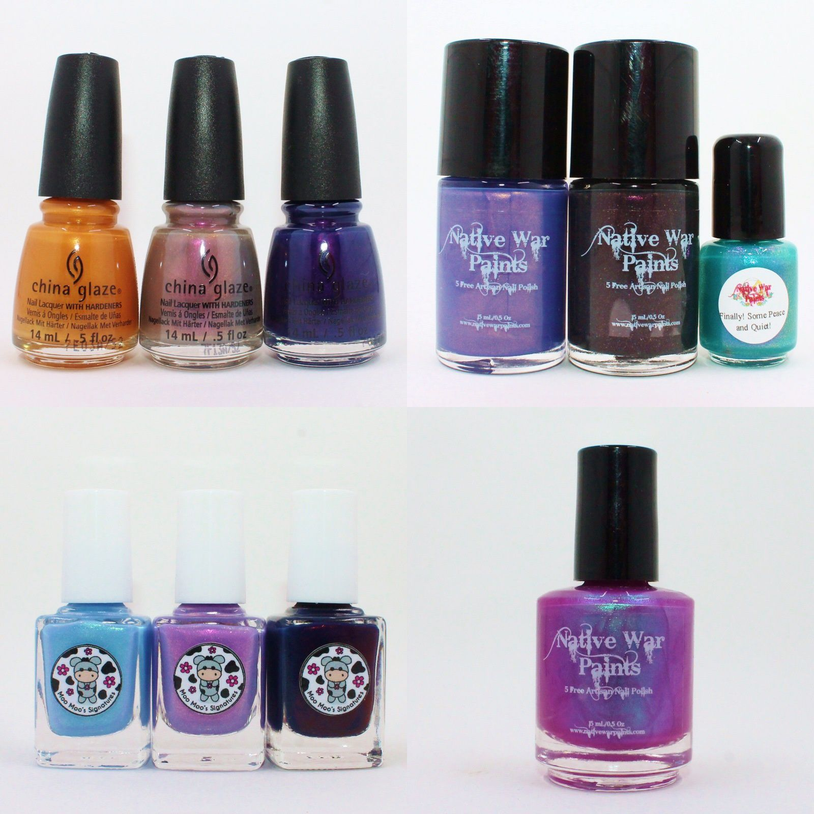 China Glaze Accent Piece, Sin-Derella, Crown for Whatever. NWP September Monthly Box & Candies Apples. Moo Moo's Signatures Fairyland, Fairies' Frozen dessert & The Last Night of Pompeii
