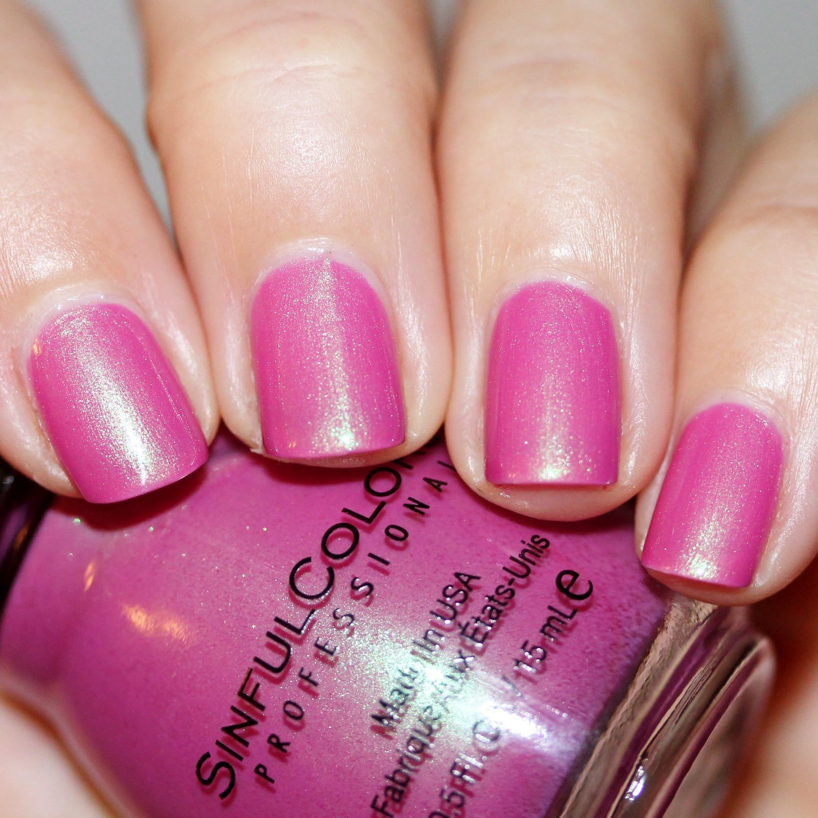 Essie Protein Base Coat / Sinful Colors Shell Out / HK Girl Top Coat