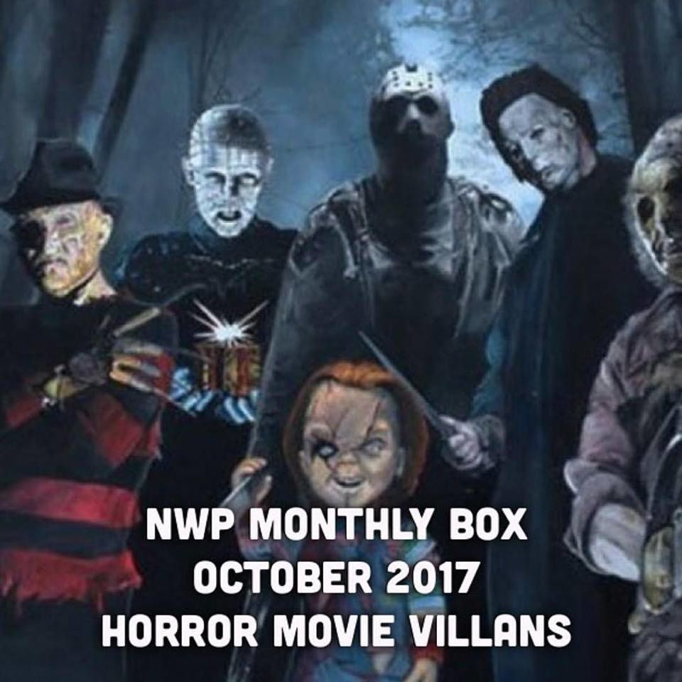 Native War Paints Monthly Box - October 2017 - Horror Movie Villains