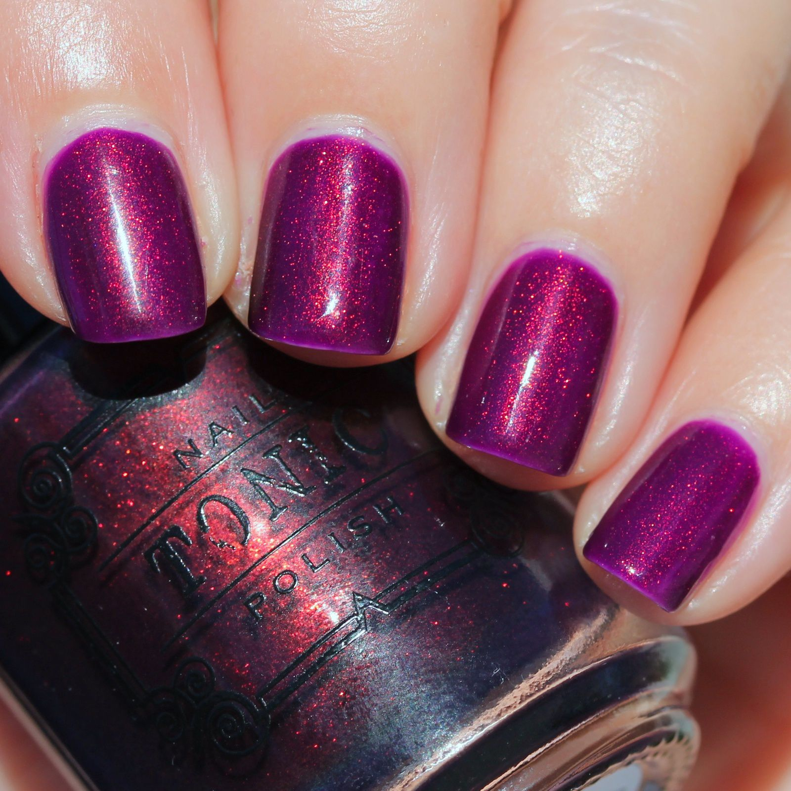 Essie Protein Base Coat / Essence Break Through / Tonic Polish Serendipity / HK Girl Top Coat