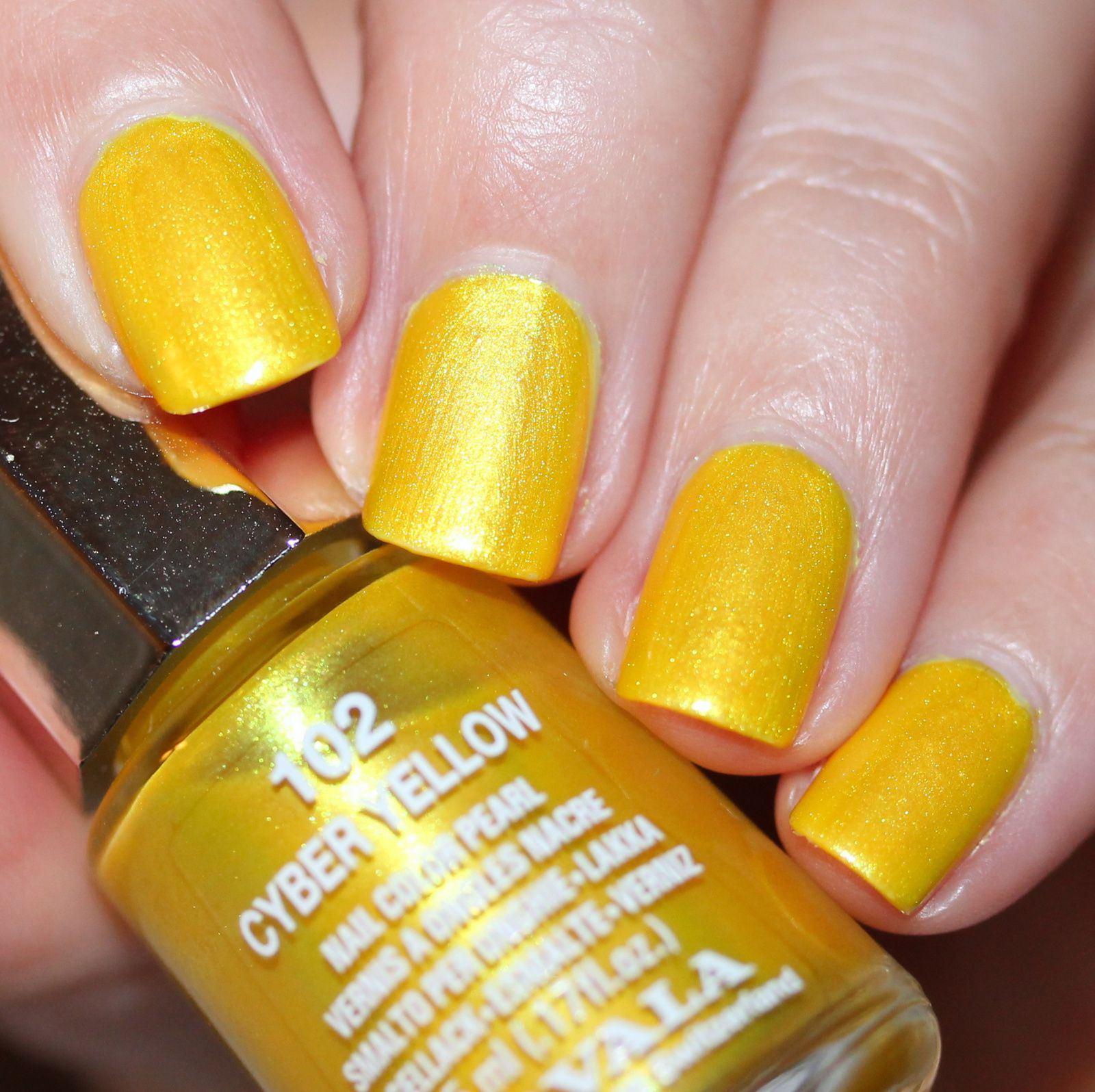 Sally Hansen Complete Care 4-in-1 Extra Moisturizing Nail Treatment / Mavala Cyber Yellow / Native War Paints Hurry, Hurry!Top Coat