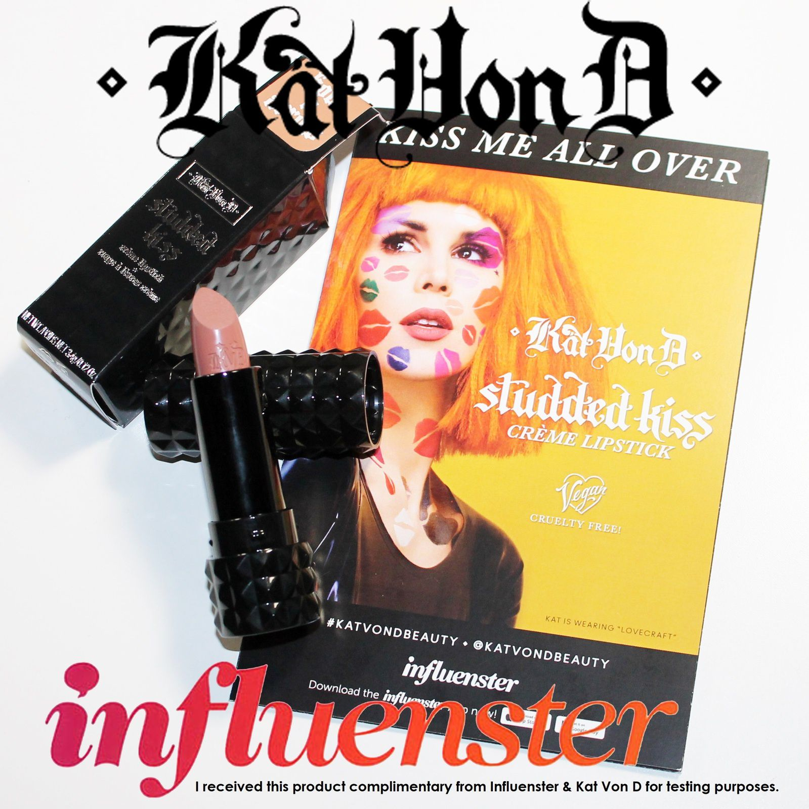 I received this product complimentary from Influenster & Kat Von D for testing purposes.
