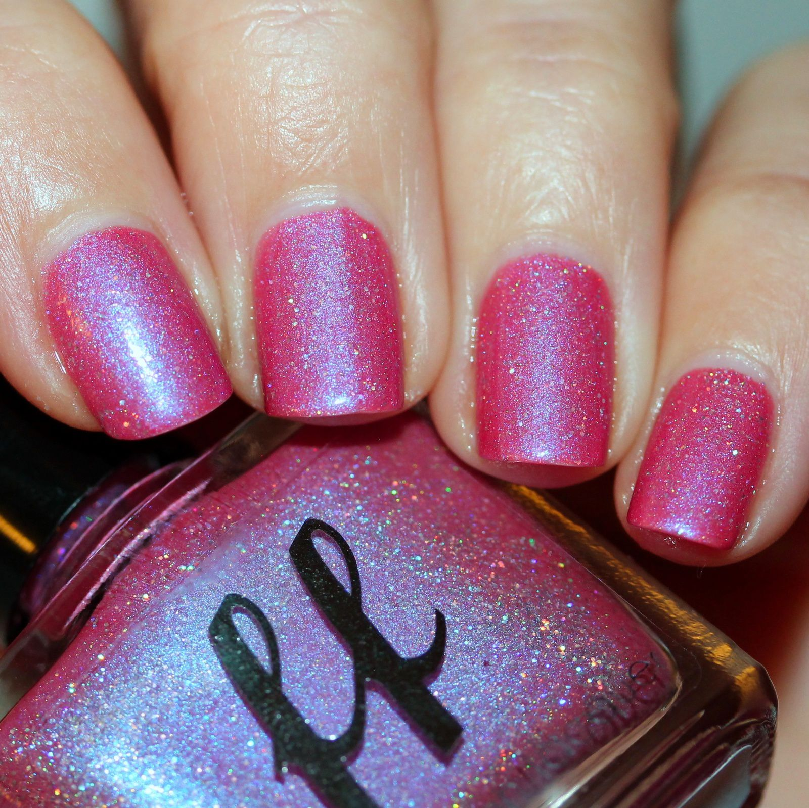 Essie Protein Base Coat / Femme Fatale Cosmetics Dawn of the Day / Lilypad Lacquer Crystal Clear Top Coat