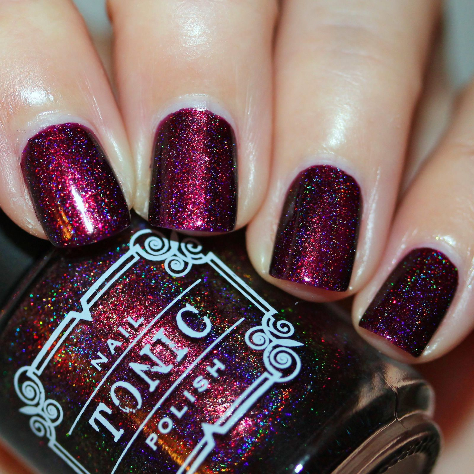 Tonic Polish Mulled Wine & Mistletoe (2 coats, not top coat)