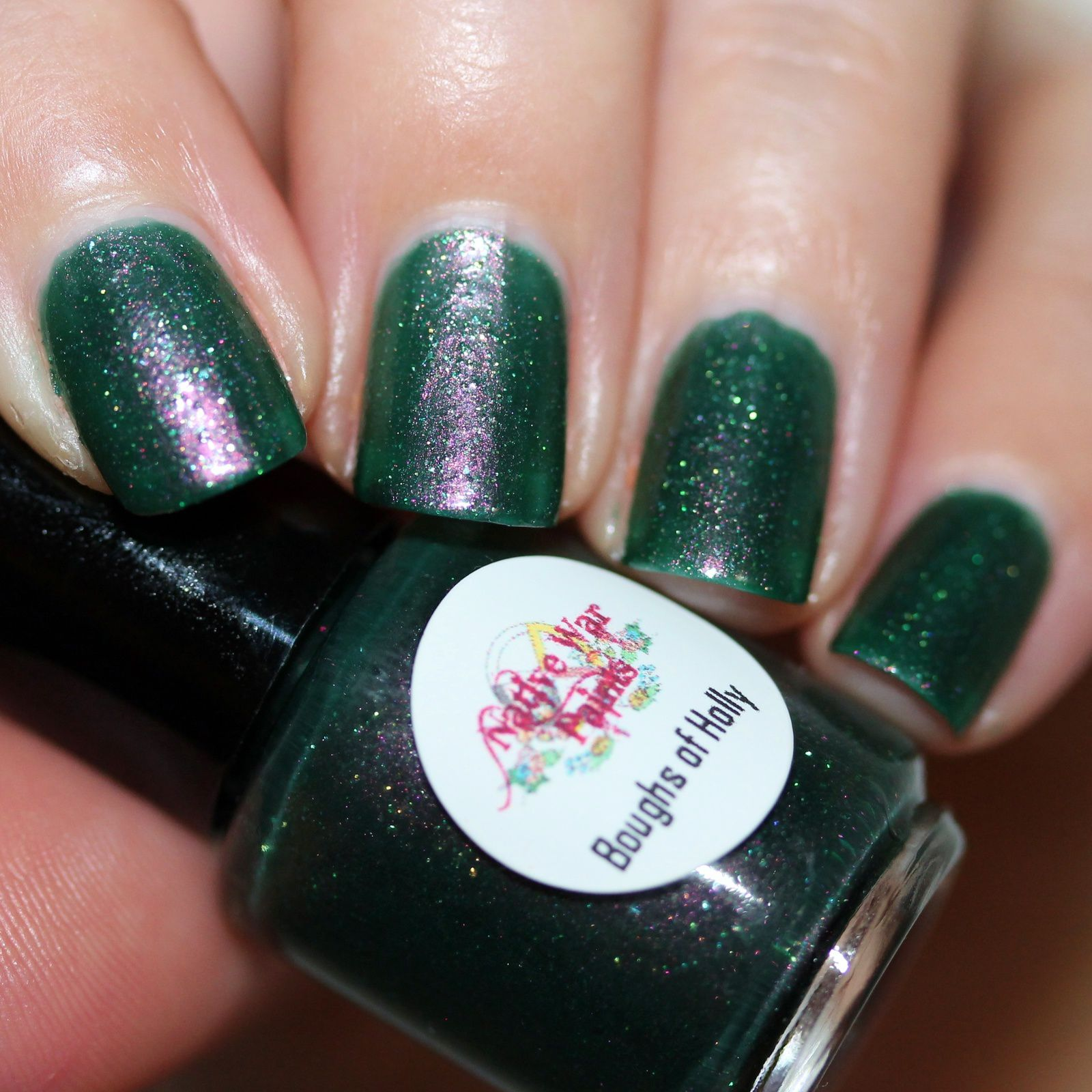 NWP Boughs of Holly (3 coats, no top coat)