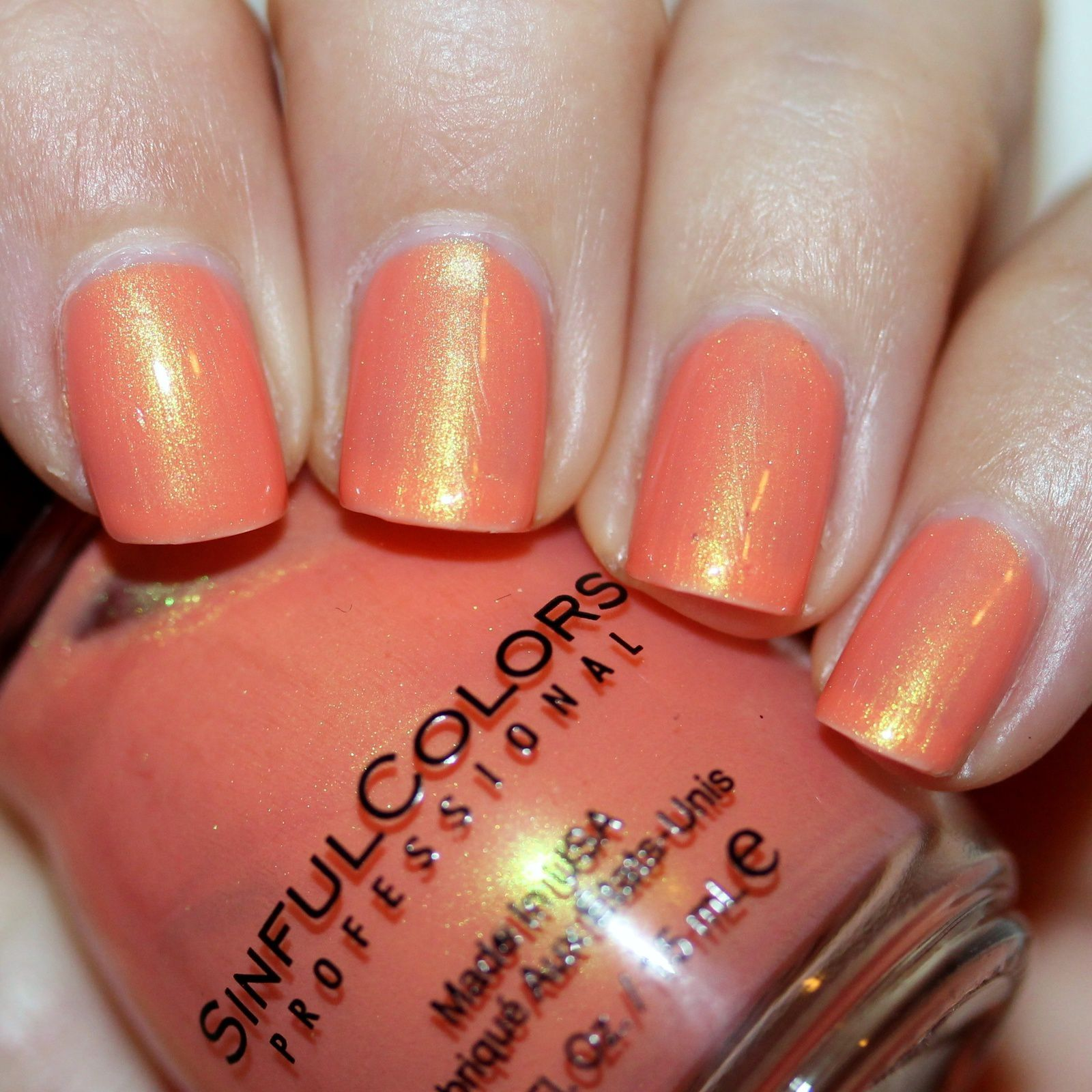 Sally Hansen Complete Care 4-in-1 Extra Moisturizing Nail Treatment / Sinful Colors Flash Back / Poshe Top Coat