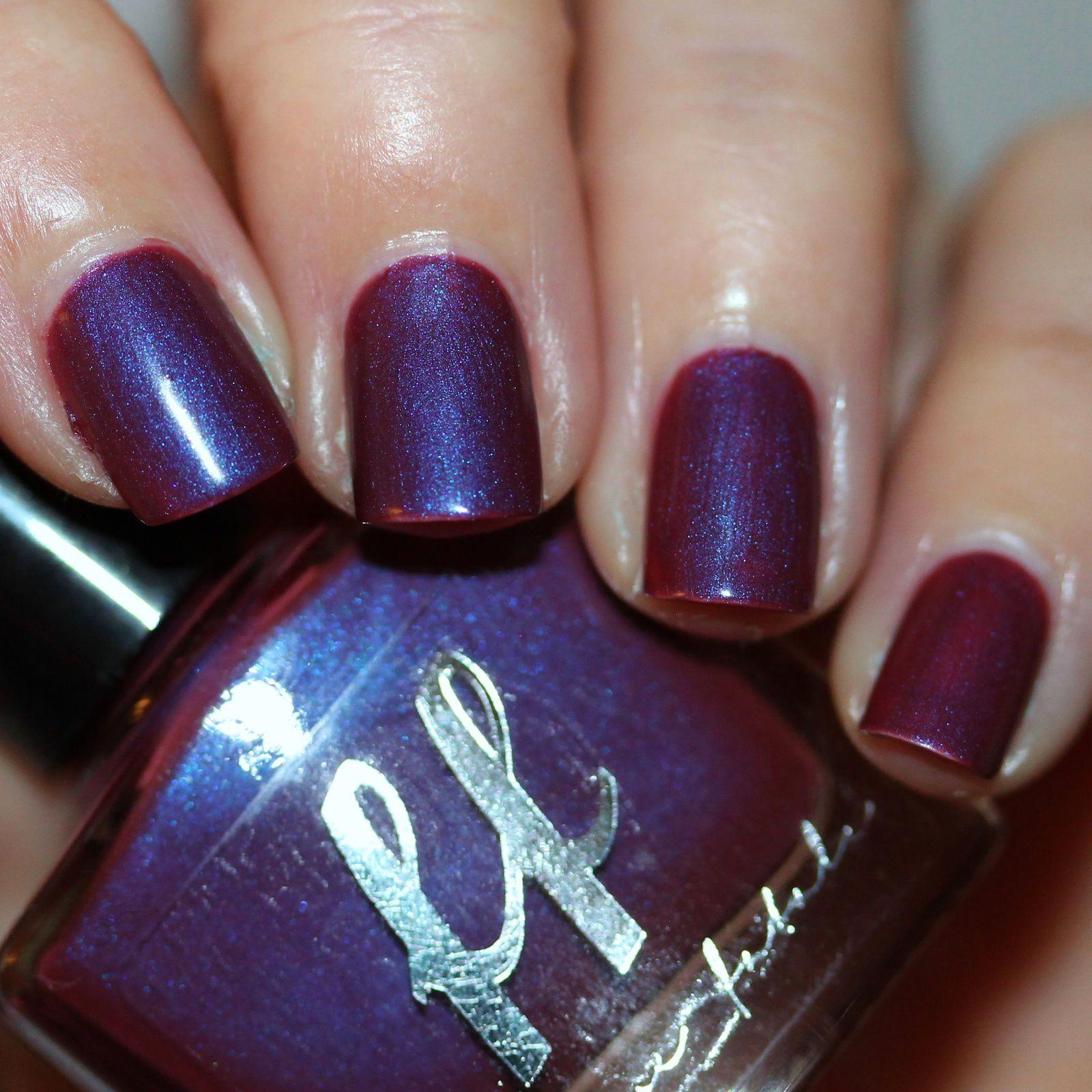 Femme Fatale Cosmetics Currant Wine (2 coats, no top coat)