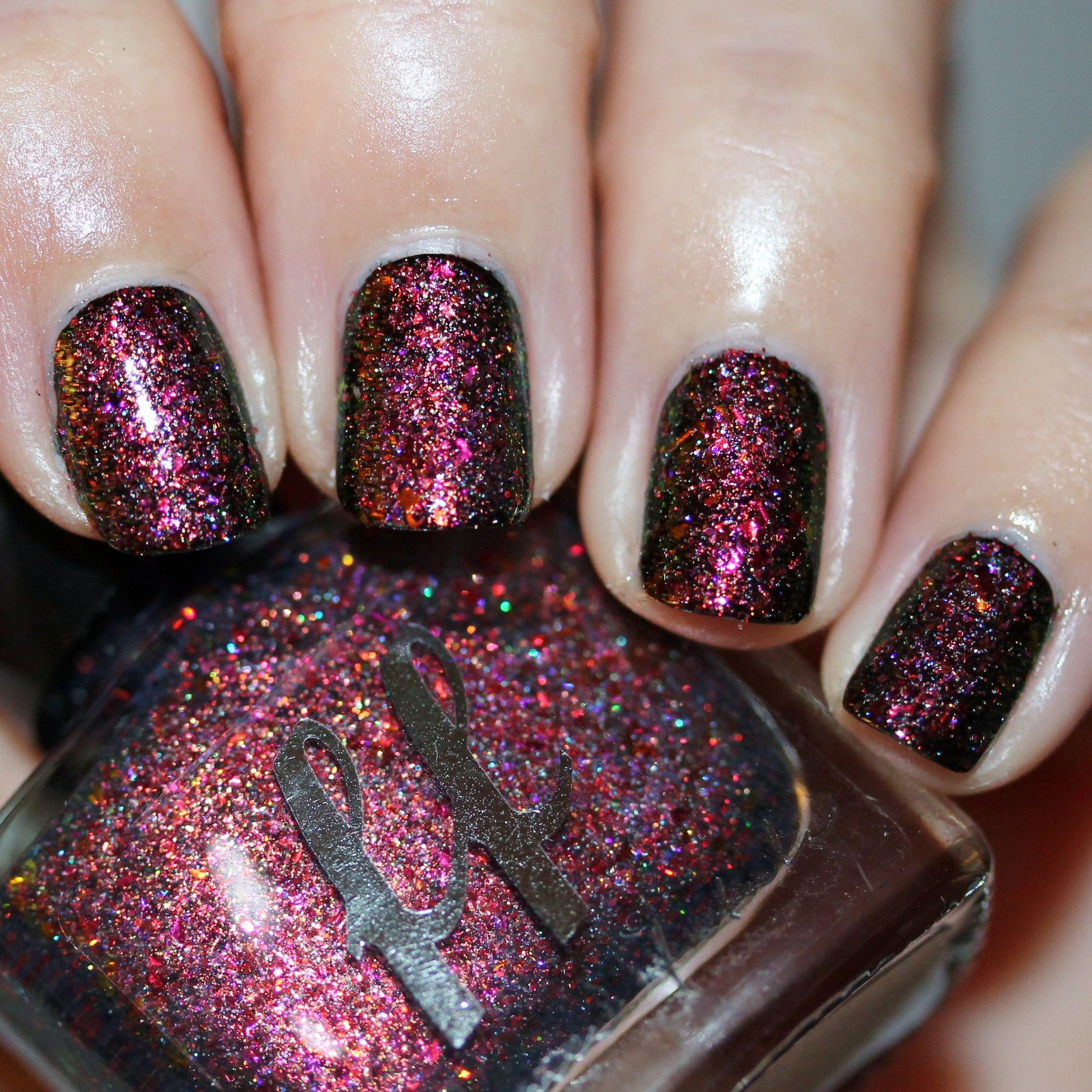 Femme Fatale Cosmetics Fire Lily (4 coats on its own, or 2 coats over a black base, no top coat)