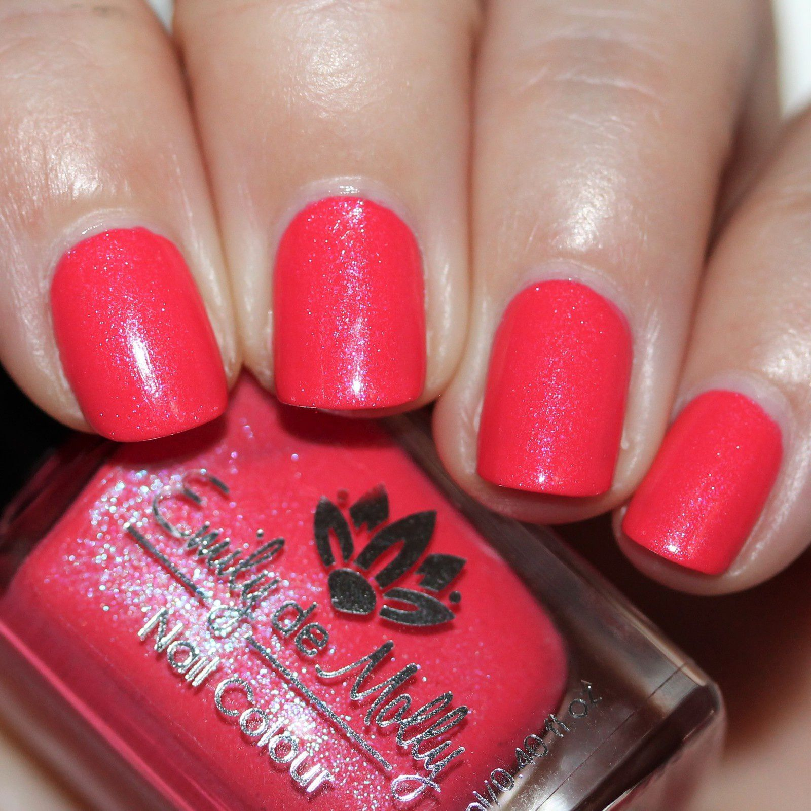 Essie Protein Base Coat / Emily de Molly Deep Sea Coral / Native War Paints Hurry, Hurry! Top Coat