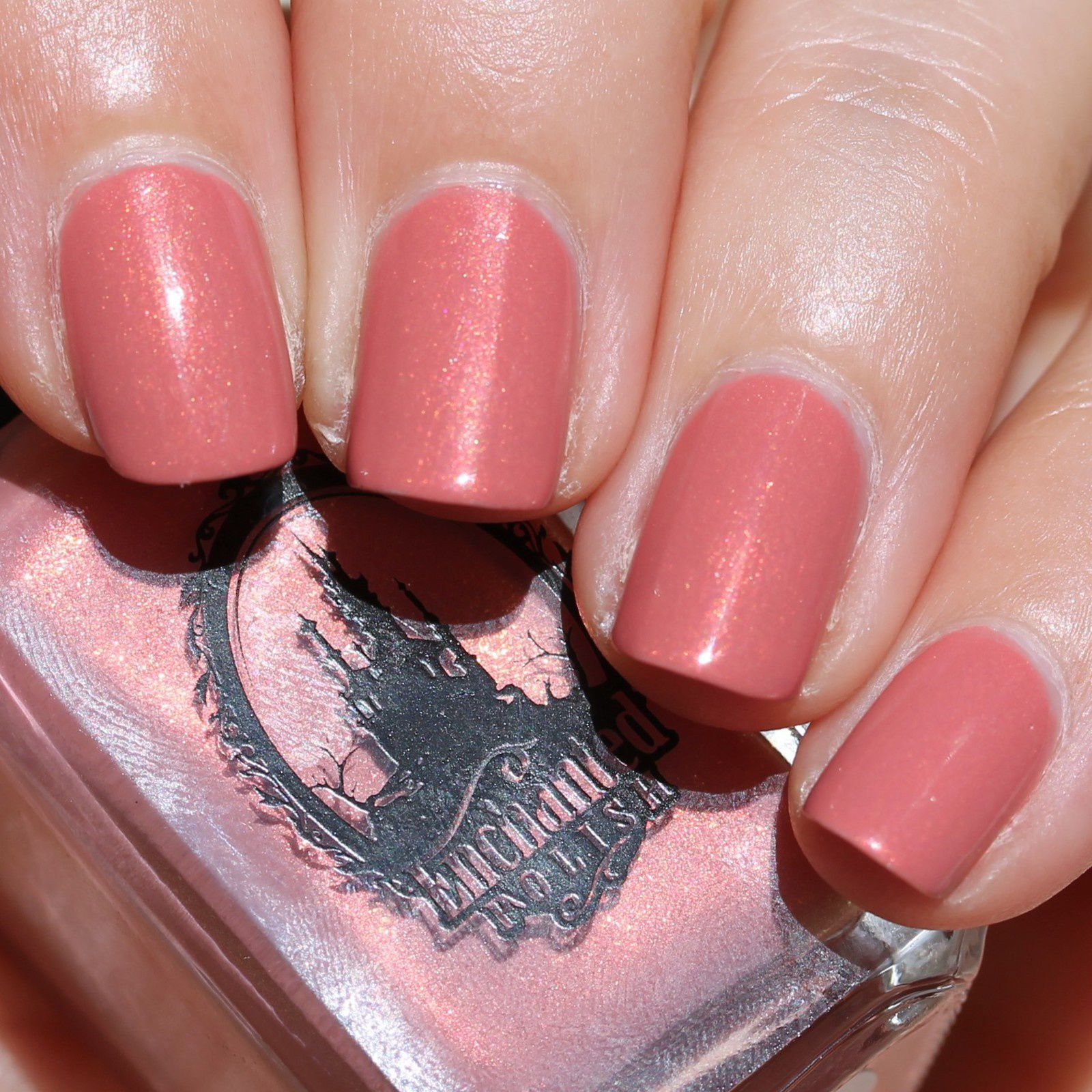Essie Protein Base Coat / Enchanted Polish Rustic Rose / Native War Paints Hurry, Hurry! Top Coat