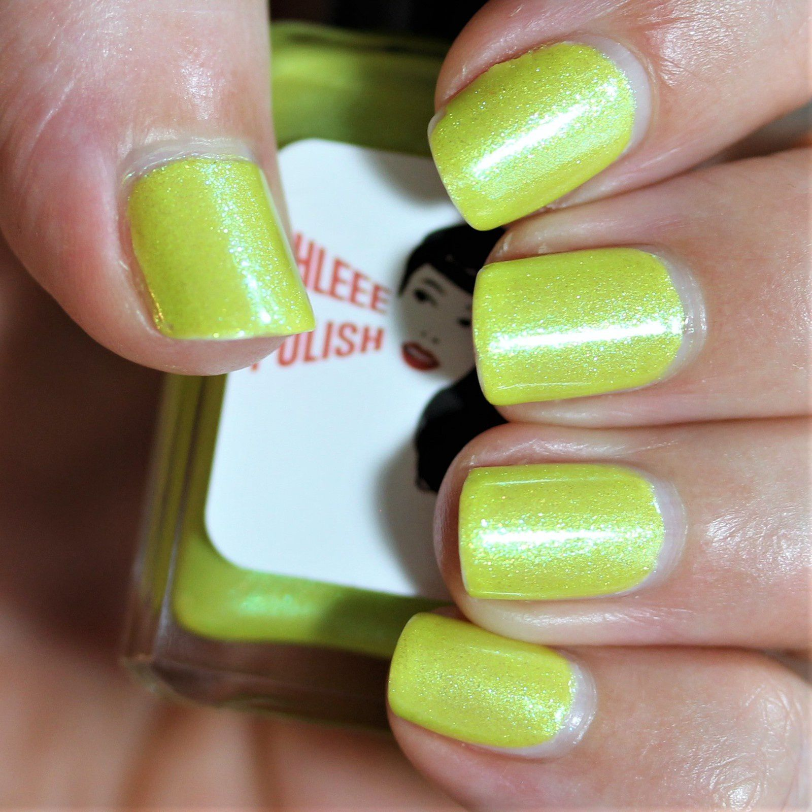 Essie Protein Base Coat / Shleee Polish Chartreuse Cocktail / Native War Paints Hurry, Hurry! Top Coat