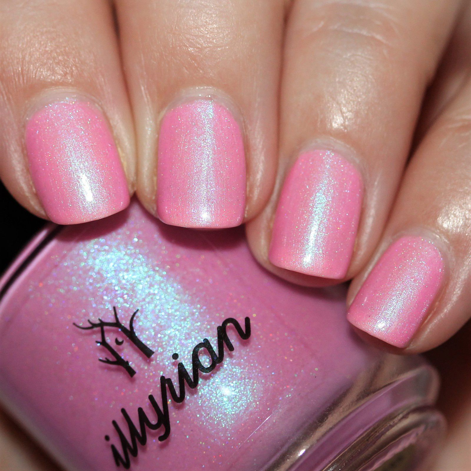 Essie Protein Base Coat / Illyrian Polish Afterglow / HK Girl Top Coat