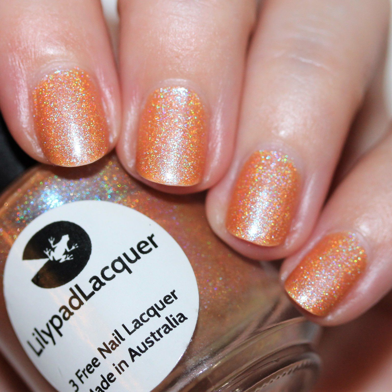 Essie Protein Base Coat / Lilypad Lacquer I'm Feeling Peachy / HK Girl Top Coat