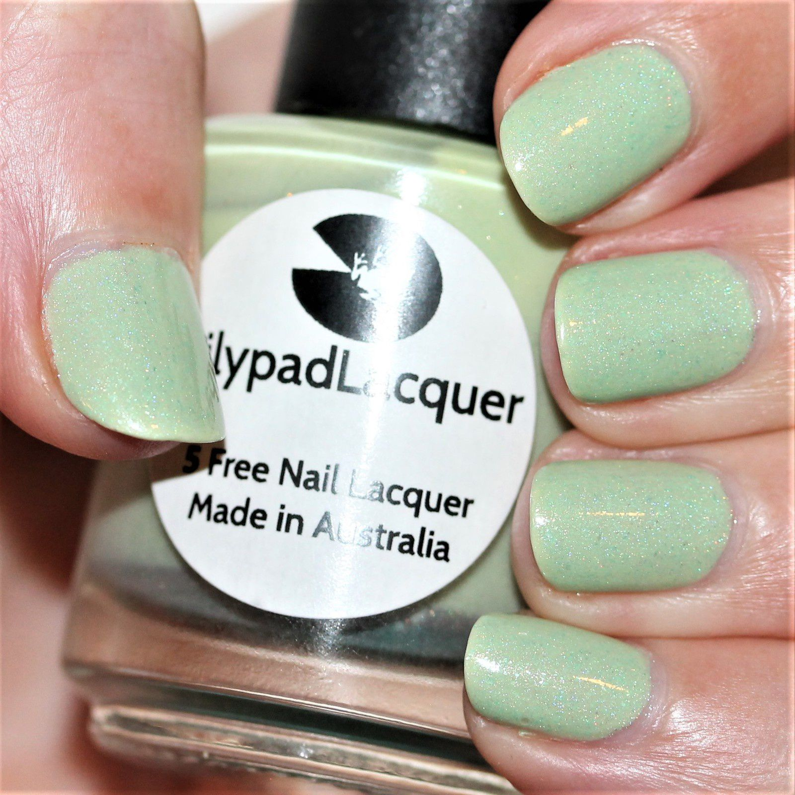 Essie Protein Base Coat / Lilypad Lacquer Minty / Lilypad Lacquer Crystal Clear Top Coat