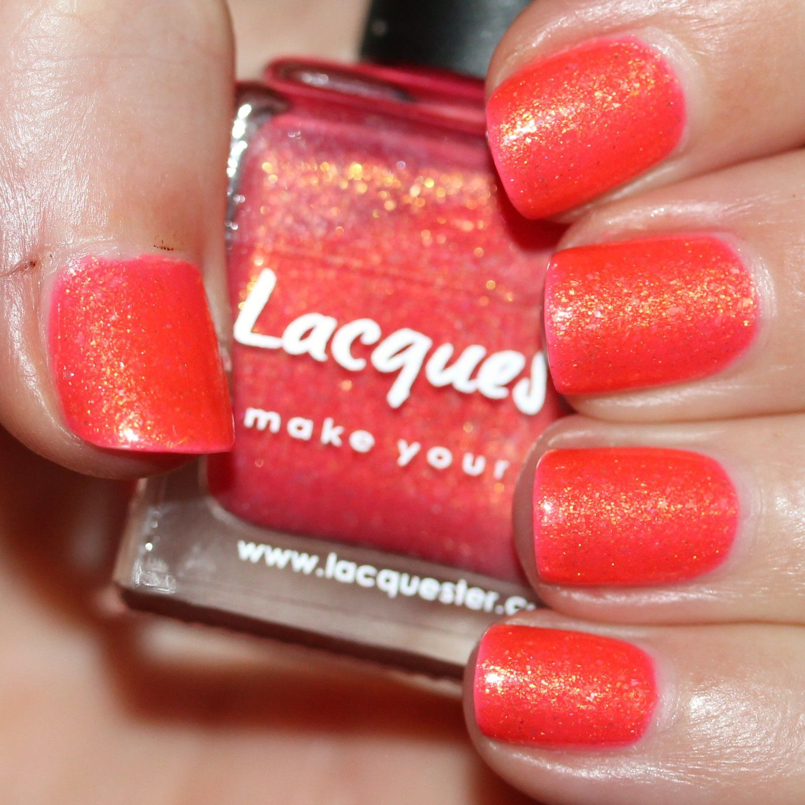 Essie Protein Base Coat / Lacquester Bahama Mama (New Version) / HK Girl Top Coat