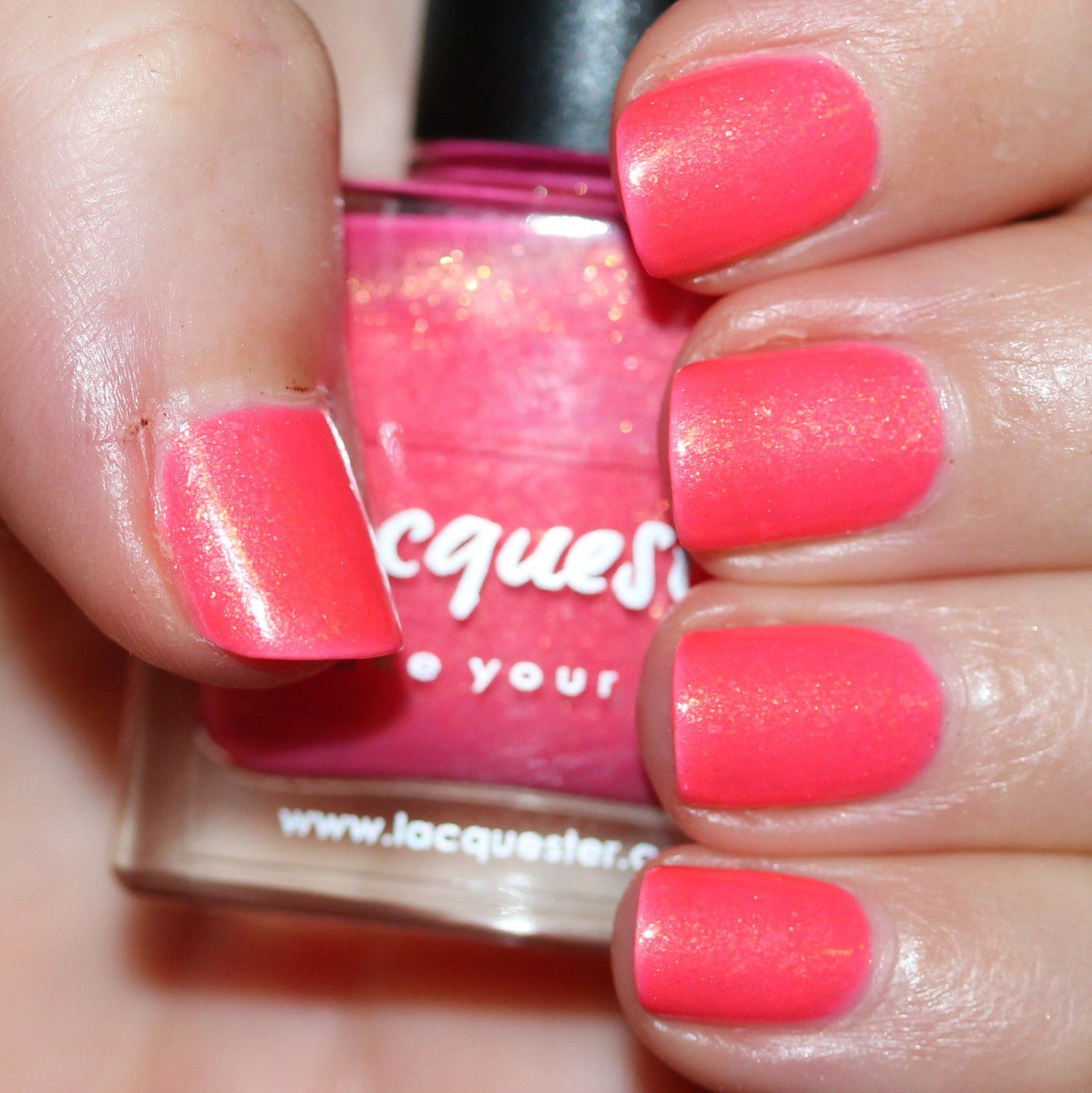 Essie Protein Base Coat / Lacquester Bahama Mama (Old Version) / HK Girl Top Coat