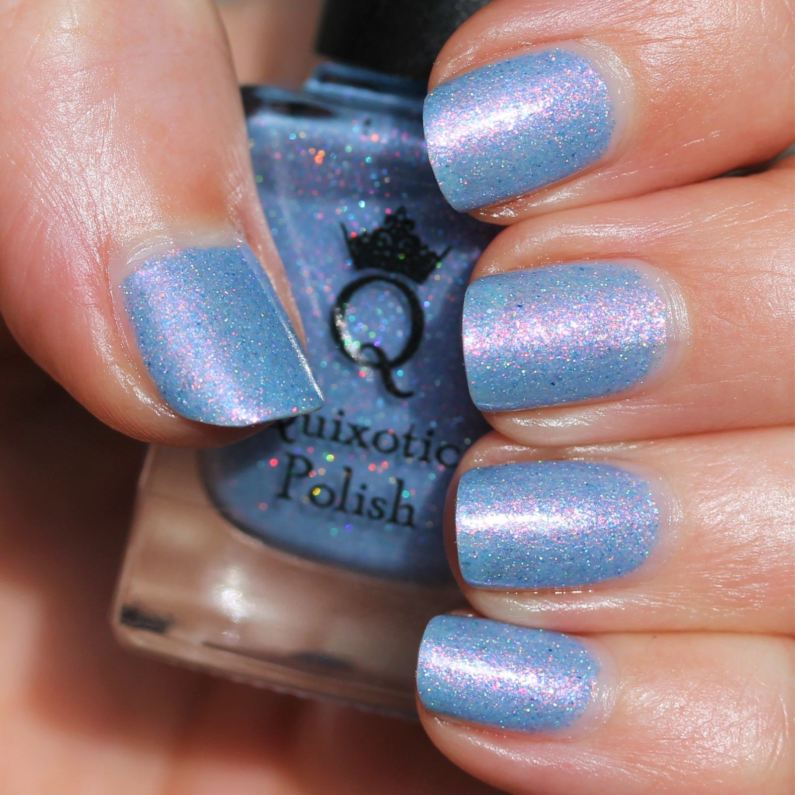 Essie Protein Base Coat / Quixotic Polish Sweet Dreams Are Made of These / Poshe Top Coat
