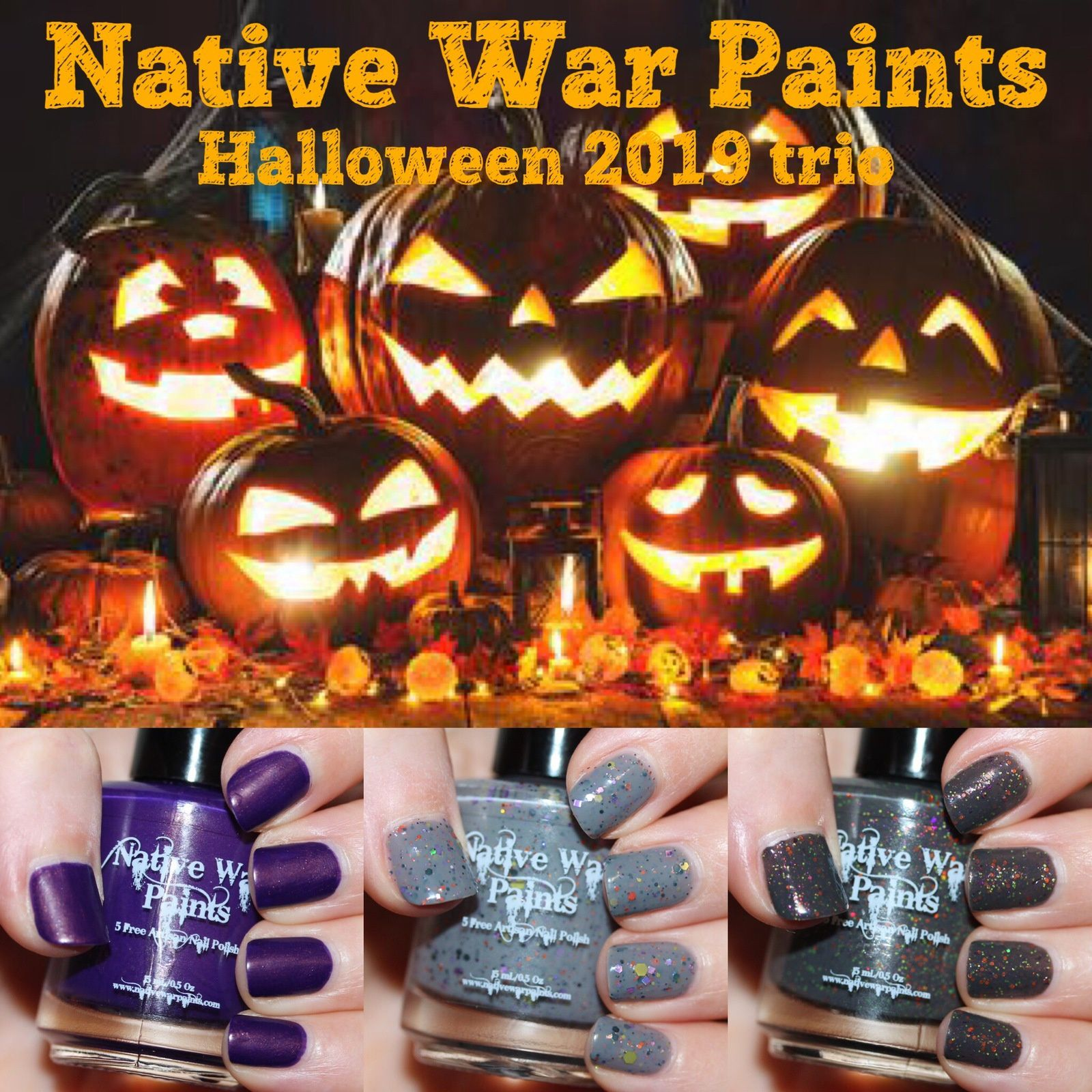 (These nail polish were sent for review by Native War Paints)